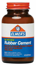 Elmer's E904 No-Wrinkle Rubber Cement 4oz. Bottle