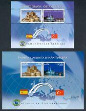 ESPAÑA / TURQUÍA 2010 - 2 HOJAS BLOQUE - EDIFIL 4606** - TURKEY - TÜRKÍYE - MNH