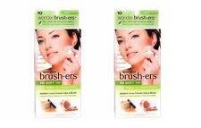 (Lot of 2) Wonder Brush-ers Make-up Applicators - 10 Soft Tip each Total 20 TIPS