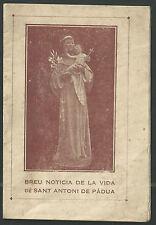 Novena antigua de San Antonio de Padua andachtsbild santino holy card santini
