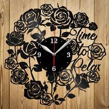 Vinyl Clock Time to relax Handmade Vinyl Record Clock Home Decor Original Gift