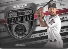 Byron Buxton 2018 Topps Series 2 TEAM MVP Medallion Black /99 Twins