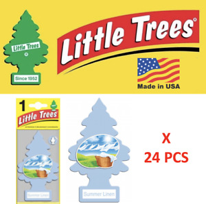 Little Trees Summer linen Freshener air U1P-10574 MADE IN USA Pack of 24