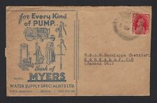 India c.1940 advertisement cover MYERS PUMPS