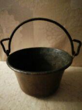 Antiguo Kessel-Kochkessel-Kupferkessel-Kupfer 2 Litro para Abierto Chimenea
