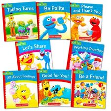 Sesame Street Elmo Manners Books For Kids Toddlers 8 Books Set Teach Manners New