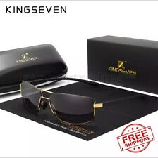 KINGSEVEN Brand Design Polarized Sunglasses Men Driving Square Frame Sun Glasses
