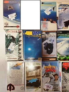 SNOWBOARDING VHS VIDEOS, 14pcs set CLASSIC COLLECTION from 00's