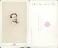 Comte Urban de Maillé CDV vintage albumen, Tirage albuminé  6,5x10,5  Circ