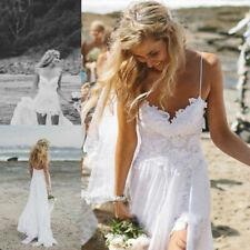 Spitze Tüll Brautkleid Hochzeitskleid Kleid für Braut Ballkleid weiß 40 BC485