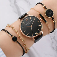 Style Fashion Women's Luxury Leather Band Analog Quartz Wristwatch Ladies Watch