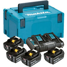Makita Power Source Kit 4 x 18V/5,0 Ah Akkus + Doppelladegerät, 197626-8