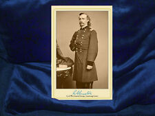 GEORGE ARMSTRONG CUSTER Cabinet Card Photo Civil War Vintage V2 AUTOGRAPH