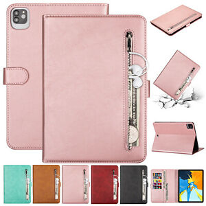 For iPad Pro 11 12.9/7th 6th 5th/Air /Mini Smart Leather Wallet Stand Case Cover