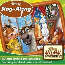 DISNEY SING-A-LONG: ANIMAL FAVOURITES CD ALBUM (Released February 24th 2017)
