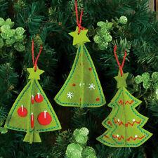 Felt Embroidery Kit ~ Dimensions 3-D Christmas Tree Ornaments #72-08192 SALE!
