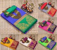 kanjivaram Silk saree peacock Designer Saree Blouse Indian Bollywood Sari Ethnic