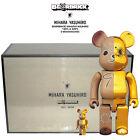 Medicom Be@rbrick Bearbrick Mihara Yasuhiro 400% & 100% Gold x Brown Figure Set
