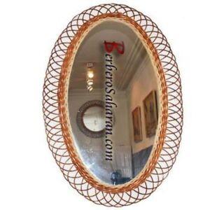 Extra Large Oval Handmade Algerian Wicker mirror #1