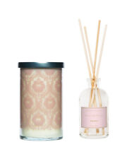 k hall designs Peony Reed Diffuser with Screen Printed Candle