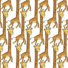 Fabric Baby Playful Cuties Zoo Safari Animals Giraffe on Flannel by the 1/4 yd