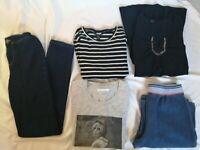 LOT de 6 vêtements femme fille ado XS pantalon jean super skinny fit bleu Kiabi
