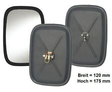 Außenspiegel Spiegel Ersatzspiegel Bagger  L.LKW 175x120 Kpl ø10mm Halter