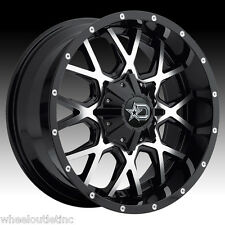 20x10 Dropstar 645 MB Wheels Rims LT 35x12.50R20 Nitto Tires Fit Silverado FORD