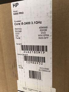 HP COMPAQ 6200 PRO SFF CORE I5-2400 3.1GHZ, 4GB RAM, 500GB HDD, DVD-RW