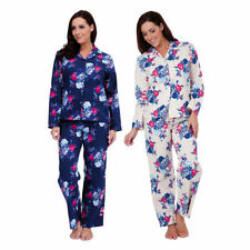 Cotton Blend Patternless Pyjama Sets for Women