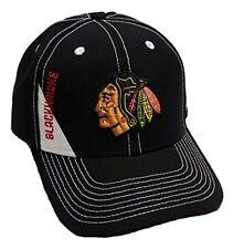 Chicago Blackhawks NHL Reebok Black Stitched Hat Cap Adult Men's Adjustable
