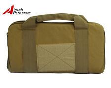 "14"" Airsoft Tactical Nylon Padded Pistol Hand Gun Magazine Carry Case Bag Tan"