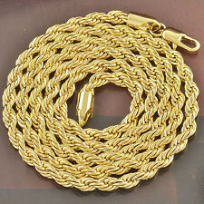 "24"" Rope Chain Mens Womens 9K Gold Filled,F2641"