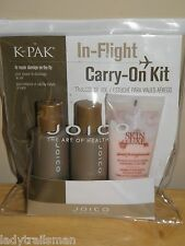 JOICO K-PAK SHAMPOO CONDITIONER & SWEET POMEGRANATE CREME LOTION TRAVEL KIT BAG