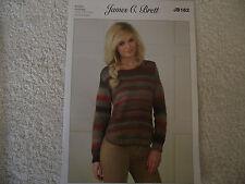 James C Brett - Ladies Sweater Double Knitting Pattern - JB162