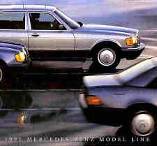 1991 MERCEDES-BENZ BROCHURE -190E-300D-300E-300SEL-420SEL-560SEC-300SL-500SL