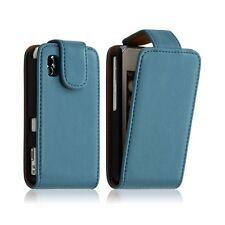 Housse coque etui pour Samsung Player One S5230 couleur bleu + Film protecteur