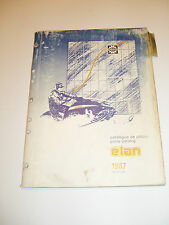 SKIDOO 1987 ELAN   PARTS CATALOG MANUAL