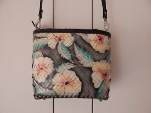 Tropical Woven Raffia Straw Shoulder Crossbody Bucket Messenger Bag Philippines