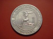 Australia 20 Cents, 2001, Sir Donald Bradman Cricket Player