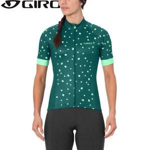 Giro Chrono Sport Womens Cycling Jersey - True Spruce Dark Green Dots