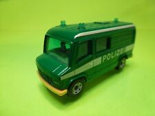 SIKU 0804 0805 MERCEDES BENZ BUS - POLICE POLIZEI - GREEN 1:65? - GOOD