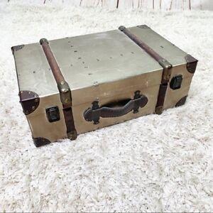 Decorative Metal Finish Suitcase Brass Gold