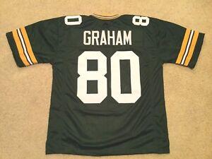 UNSIGNED CUSTOM Sewn Stitched Jimmy Graham Green Jersey - M, L, XL, 2XL