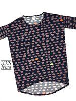 New LuLaRoe Irma Tunic Hi-Low Top Size XXS Multicolor Pink Unicorn NWT B0302