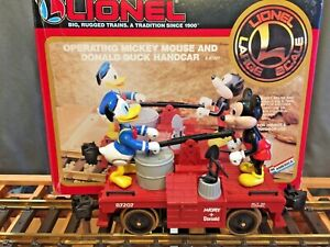 Lionel 8-87207 G Disney Mickey Mouse & Donald Duck Handcar EX/Box
