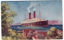 CUNARDER '' FRANCONA '' at FIUME - Vintage postcard