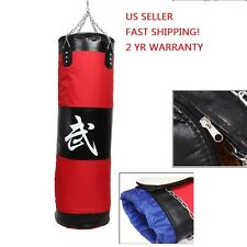 Punching Sand Bag Pro 100cm MMA Boxing Heavy Training Practice  Empty With Chain