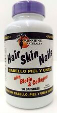 Sunshine Naturals Hair Skin Nails 90 capsules (with biotin & collagen)