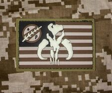 BANTHA USA US FLAG RUBBER PVC  ARMY MORALE DESERT  HOOK  PATCH